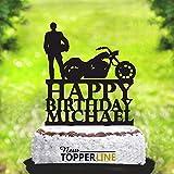 Ethelt5IV Motorrad Kuchen Topper Biker Kuchen Topper Silhouette Motorrad Geburtstag Biker Kuchen...