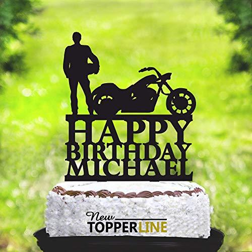 Motorrad-Tortenaufsatz Biker Kuchen Topper Silhouette Motorrad Geburtstag Biker Kuchen Topper Motorrad Geburtstag TopperHarley Davidson 2265