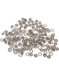50 Sets 3/8 Inch Druckknopf nähfrei Open Ring Silber