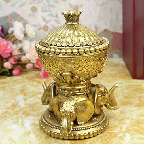 29ddf54d731 Boîte à bijoux Qy Résine Classique Européenne en Forme Ronde Boîte De  Rangement Bijoux Créative Boîte