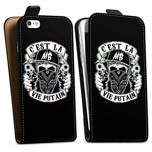 Apple iPhone X Silikon Hülle Case Schutzhülle Montanablack Fanartikel Merchandise C'EST LA VIE PUTAIN Downflip Tasche schwarz