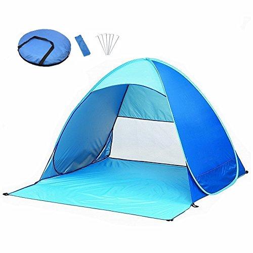 YZCX Tenda da Spiaggia Esterni con UV 50+ Protezione Solare per 2 o 3 Persone Apertura Istantanea Pop-up Tenda Parasole 165x150x110 cm per Viaggi / Campeggio / Trekking / Pesca / Giardino