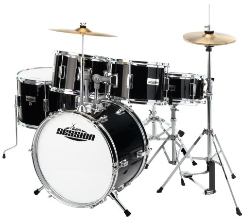 5. Xdrum Junior Pro Kids Drum Set - Black + Drum School Booklet + Dvd