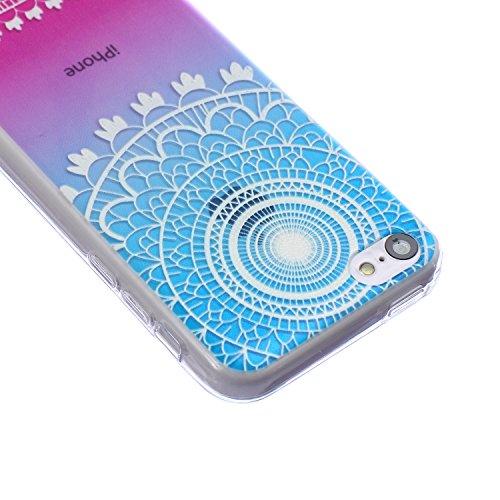 ZeWoo TPU Schutzhülle - BF015 / Wilden Wolf - für Apple iPhone 5C Silikon Hülle Case Cover BF004 / Blau Muster+Lila