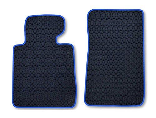 RAU Passform Gummimatten Fussmatten OCTAGON DUO mit blauer Bandeinfassung - passend für das von...