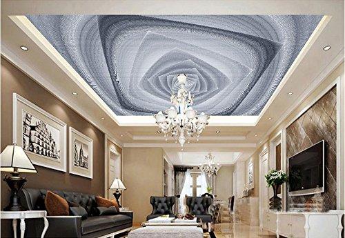 Weiß-wand-kunst-himmel Und Schwarz (Lqwx Custom 3D-Decke Schwarze Und Weiße Geometrische Kunst 3D Raum Tapeten Himmel Tapeten Für Decken 3D Wandbilder Decke Wand Papier 350 Cmx 245 Cm)
