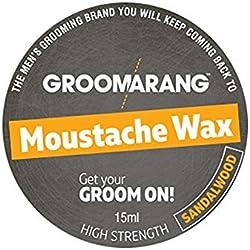 Groomarang cera para bigote de sándalo