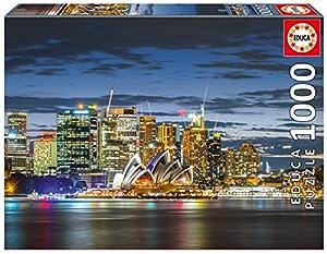 Educa Borrás- Dibujos Animados y cómic 1000 Ciudad de Sydney en el Crepúsculo, Puzzle (17106)