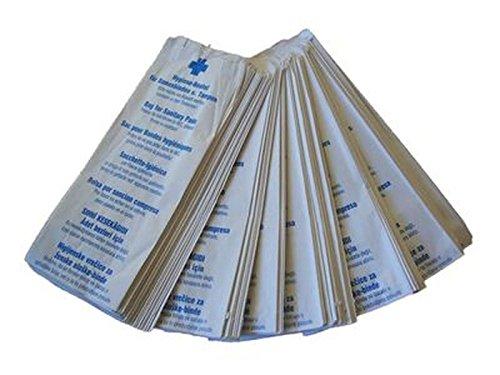 100 Stück Hygienebeutel,Tüten aus Papier für Binden und Tampons,Hygienetüten