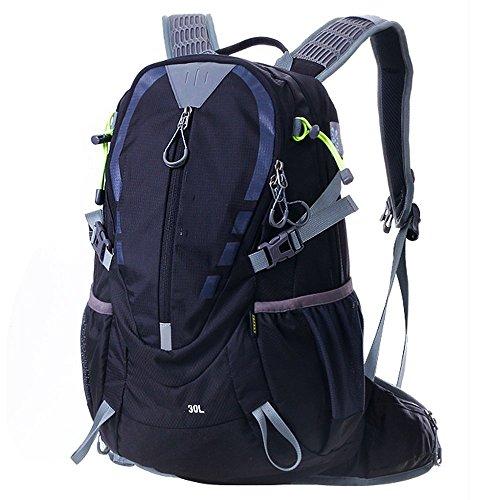zaino alpinismo equitazione uomini borsa zaino e le donne che guidano la fornitura di attrezzature (30L, 40L) Nero