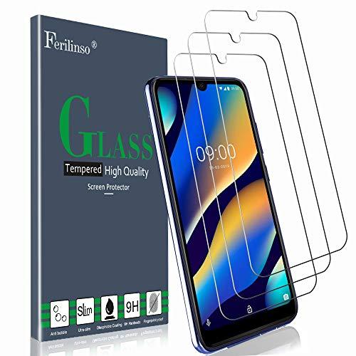 Ferilinso Panzerglas Schutzfolie Kompatibel mit Wiko View 3 Lite, [3 Pack] Gehärtetes Glas Bildschirmschutzfolie mit Lebenszeit Ersatzgarantie für Wiko View 3 Lite Panzerglas (Transparent)