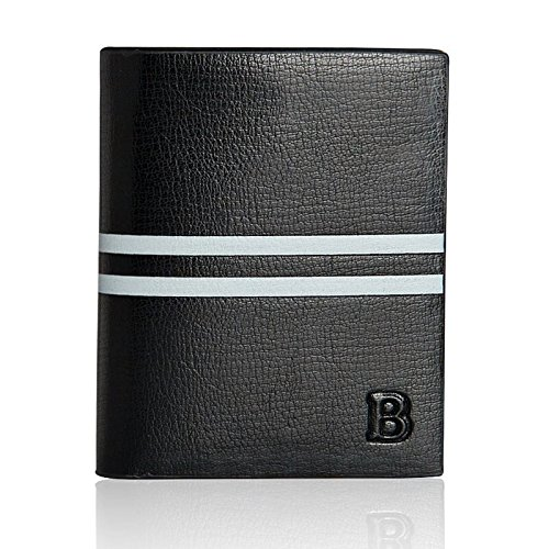 Bogesi Premium Bifold Leather Men's Wallet, Black