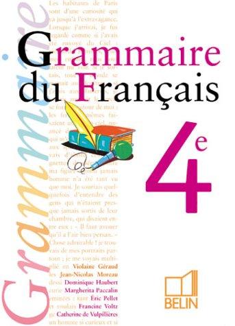 Grammaire du français, 4e (livre de l'élève)