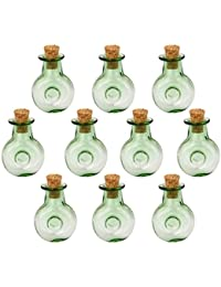 10 Botellas De Corcho Cristal Xo Forma Redonda Vial Botellas Deseen Colgantes De Bricolaje Verde