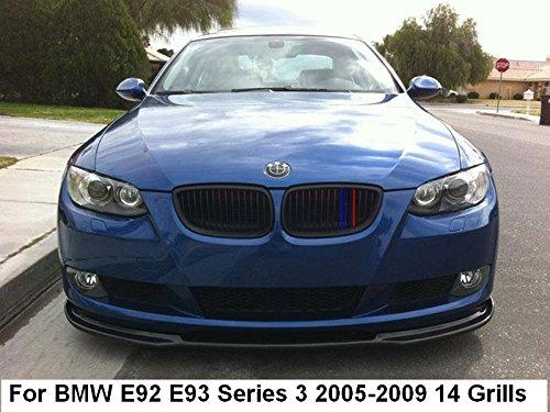 Coupe B M W E92 E93 Série 3 2005-2009 14 Grill Clip en Insurts M Power Bonnet Rein Grille Rayures Décor Housse M Sport Tech 3 couleurs
