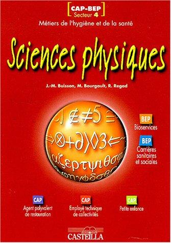 Sciences physiques CAP-BEP métiers de l'hygiène et de la santé- secteur 4