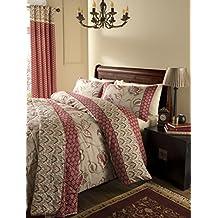 Catherine Lansfield Kashmir - Juego de cama (algodón de 200 hilos), doble