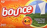 Bounce Outdoor Fresh Dryer Sheets, Pack of 260