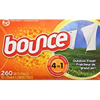 Bounce Outdoor Fresh Dryer Sheets – 260 Sheets/trocknertuecher – USA –