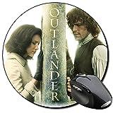 Outlander Sam Heughan Caitriona Balfe F Mauspad Round Mousepad PC