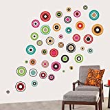 Wall Sticker For Bed Room Kids Room Living Room Hall Walls 'Polka Motifs' Wall Sticker (PVC Vinyl, 60 Cm X 90 Cm, Black) By FRIENDS OFFICE AUTOMATION