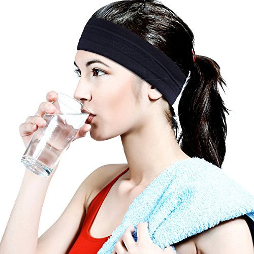 bea258f7ac384c HopMore [ 1 Stück ] Yoga Fitniss Running Sport Stirnbänder Stirnband  Elastische Haar Band Silikon Sommer