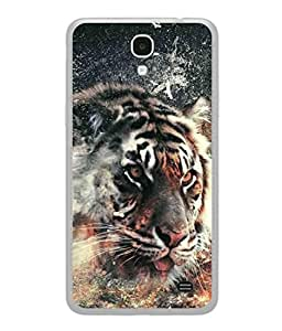 PrintVisa Designer Back Case Cover for Samsung Galaxy Mega 2 SM-G750H (Tiger Angry Hungry Running Force)