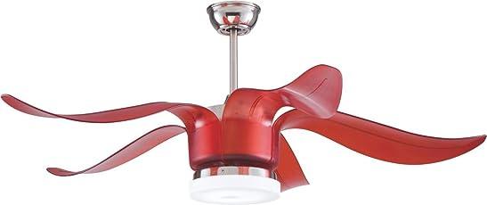 Kanz Enterprises Designer Modern Decorative Imported Ceiling Fan with ABS Blades, LED Light & Remote Control, K 335Red