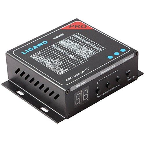 Ligawo 3090020 HDMI EDID Manager V2 | Audio / Video EDID Voreinstellungen bis 4Kx2K / 7.1 Mehrkanal | 3x EDID Save Optionen V2 Audio