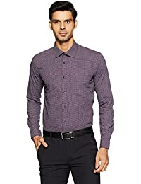 Knighthood by fbb Men's Printed Slim Fit Cotton Formal Shirt