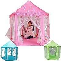ordinatamente Pieghe in Una Borsa per Il Trasporto Facile Installazione e stoccaggio,Orange AUNLPB Tenda per Bambini per Principessa Pop up Castello Tenda per Il Divertimento Interno ed Esterno