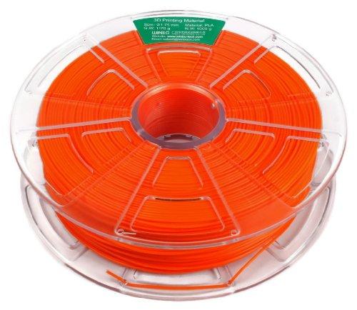 Filamento PLA 1000g 1,75mm para impresoras 3D (Naranja)