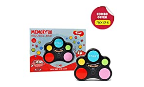 Toiing Memorytoi Return Gift Combo – Pack of 6 Electronic Memory Games, Great Travel Toy for Kids