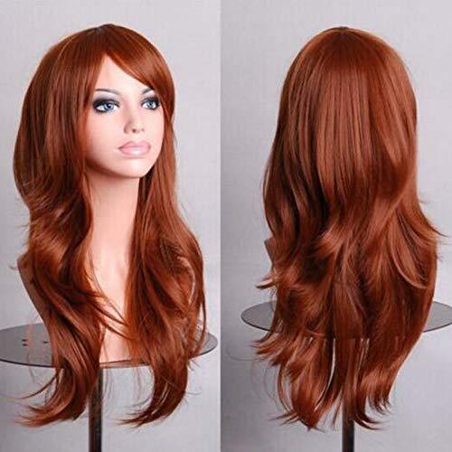 (DDDMMM 70Cm Lila Lockige Perücken Gefälschte Haarteile Kunsthaar Schwarz Rosa Rot Blau Cosplay Perücke Für Frauen)