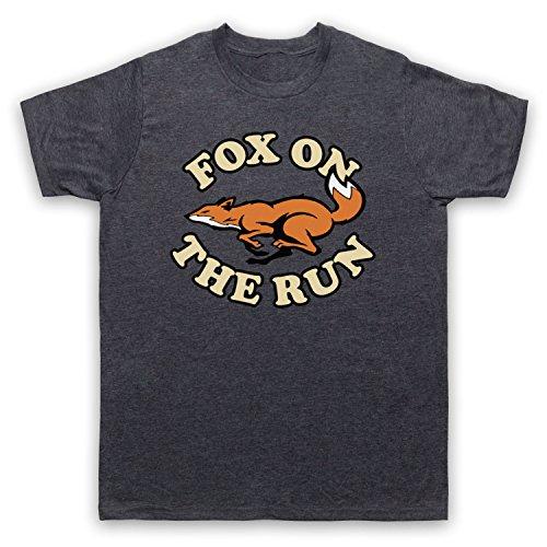 Inspiriert durch Sweet Fox On The Run Unofficial Herren T-Shirt Jahrgang Schiefer