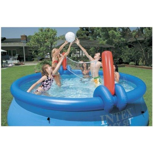 Intex Wasserspiel Volley- und Basketball Set, Mehrfarbig, für Easy Pools von Ø 457 - Ø 549 cm -