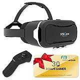 Por nsinew–más de 30aplicaciones de realidad virtual de realidad virtual auriculares y Bluetooth mando a distancia incluido con VR móvil–Compatible con Apple y Android teléfonos de 4–6'tamaño -360° VR Gafas para 3d juegos
