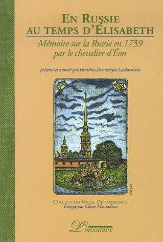 En Russie au temps d'Elisabeth (titre provisoire) par Charles de Beaumont