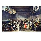 Jacques-Louis David – El juramento del campo de tenis Artistica di Stampa (60,96 x 45,72 cm)