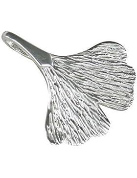 Kleines Ginkgoblatt, Anhänger aus 925-Silber