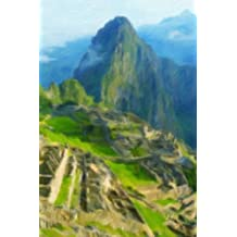 Machu Picchu - Blank Notebook with Fleur de Lis Corners: Soft Cover, 6 x 9 Journal, 100 Pages