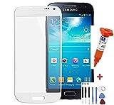 Samsung Galaxy S4 mini i9195 Display Glas Touch Screen Weiß + Werkzeug und UV-Kleber