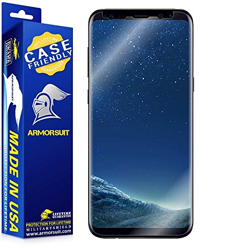Armorsuit - Galaxy S8 Screen Protector [Case Friendly] MilitaryShield For Samsung Galaxy S8 Anti-Bubble HD Clear