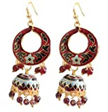 Kalaplanet Thewa Earrings with Mahroon J...