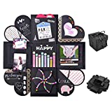 Yompz Explosion Box Scrapbook Creative DIY Photo Album, Caja de Regalo de Explosión Creativa, Álbum de Fotos como Regalo de Cumpleaños, Boda o Día de San Valentín, Caja Sorpresa sobre el Amor