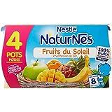Nestlé Bébé Naturnes Fruits du Soleil - Compote dès 8 Mois - 4 x 130g - Lot de 3