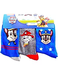 PAW PATROL - Calcetines hasta la rodilla - para niño bleu gris bleu