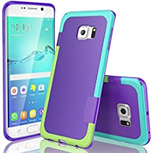 Funda Samsung Galaxy S6 Edge, HanLuckyStars, TPU Funda Carcasa para Galaxy S6 Edge, Carcasa Galaxy S6 Edge Funda con [Ultra Fina][Anti-Arañazos][Anti-Choques][Garantía de por vida](Púrpura)