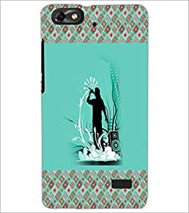 PrintDhaba Music D-5776 Back Case Cover for HUAWEI HONOR 4C (Multi-Coloured)