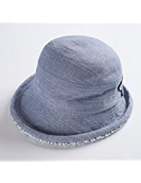 QZ HOME Cappello Donna Visiera Estate Viaggiante Protezione UV Cappello  Pescatore Cappello Da Sole Di Piegatura e691099b9b16